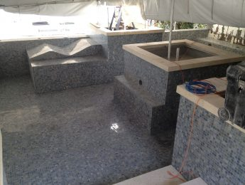 Mosaic Tile Installation for Inground Pool