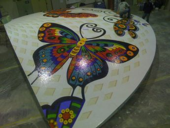 Mosaic Tile Butterfly Design