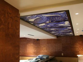 Mosaic Tile Art on Ceiling